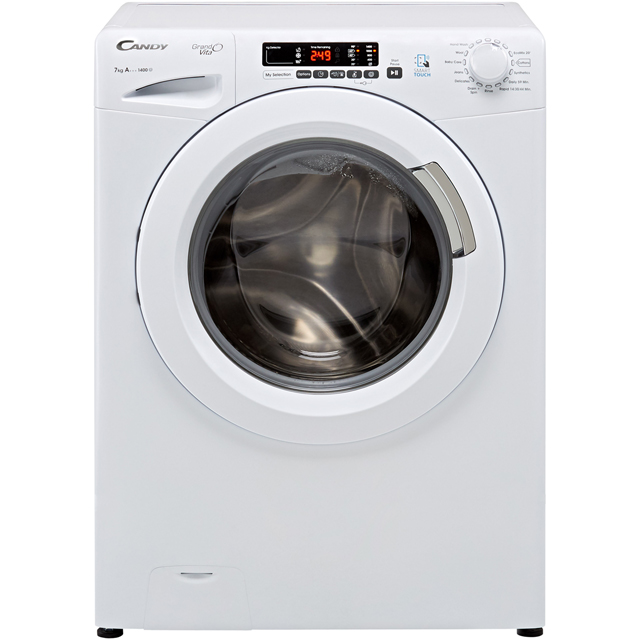 Candy Grand'O Vita GVS1472D3 7Kg Washing Machine with 1400 rpm - White - A+++ Rated - GVS1472D3_WH - 1