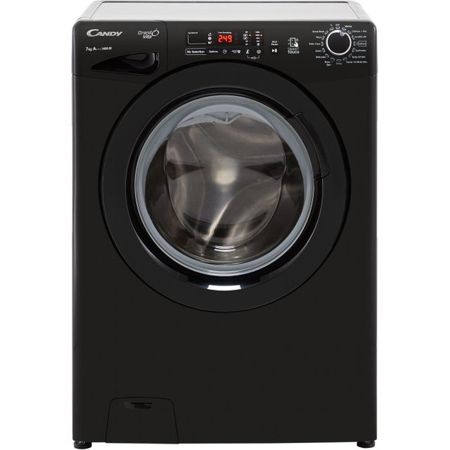 Candy Grand'O Vita GVS1472DB3B 7Kg Washing Machine with 1400 rpm - Black - A+++ Rated - GVS1472DB3B_BK - 1