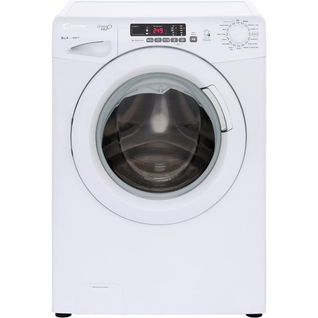 Candy Grand'O Vita GVS168D3 8Kg Washing Machine with 1600 rpm - White - A+++ Rated - GVS168D3_WH - 1