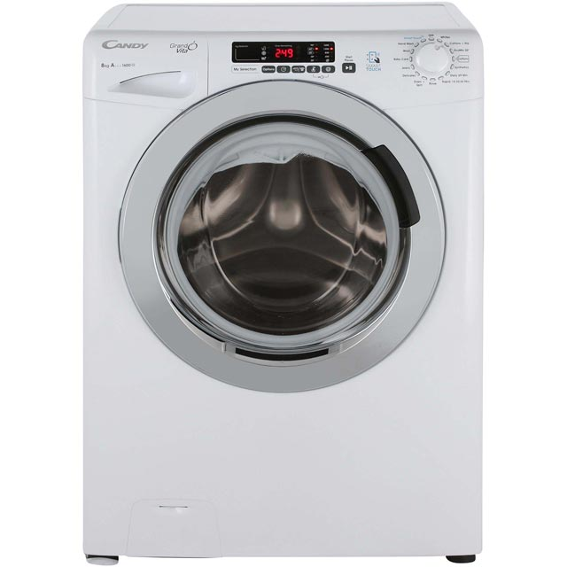 Candy Grand'O Vita GVS168DC3 8Kg Washing Machine with 1600 rpm - White - A+++ Rated - GVS168DC3_WH - 1