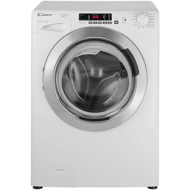 Candy Grand'O Vita GVS169DC3 9Kg Washing Machine with 1600 rpm - White - GVS169DC3_WH - 1