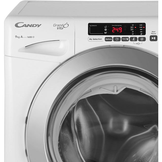 Candy Grand'O Vita GVS169DC3B 9Kg Washing Machine - Black - GVS169DC3B_BK - 3