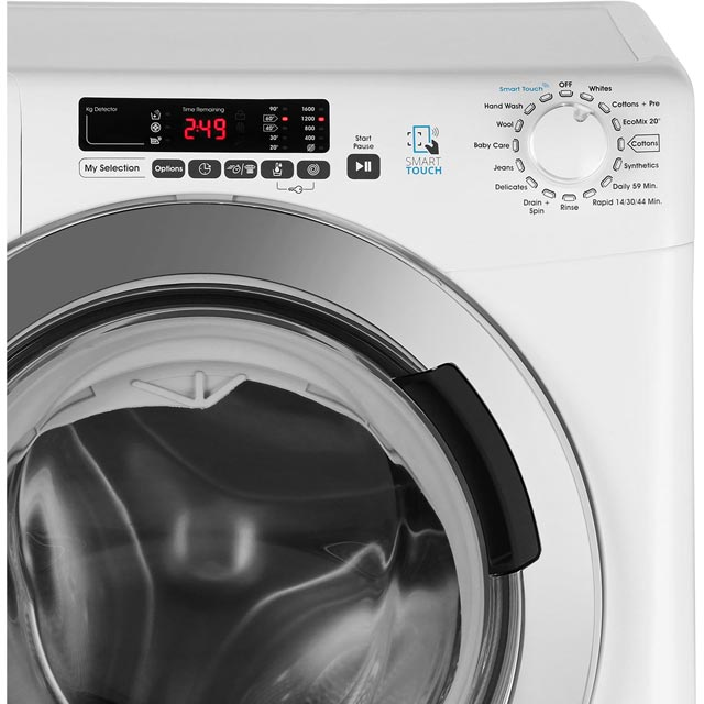 Candy Grand'O Vita GVS169DC3B 9Kg Washing Machine - Black - GVS169DC3B_BK - 4