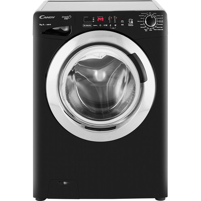 Candy Grand'O Vita GVS169DC3B 9Kg Washing Machine with 1600 rpm - Black - A+++ Rated - GVS169DC3B_BK - 1
