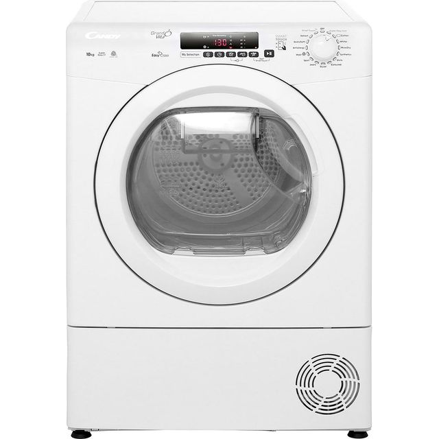 Candy Grand'O Vita GVSC10DE 10Kg Condenser Tumble Dryer - White - B Rated - GVSC10DE_WH - 1