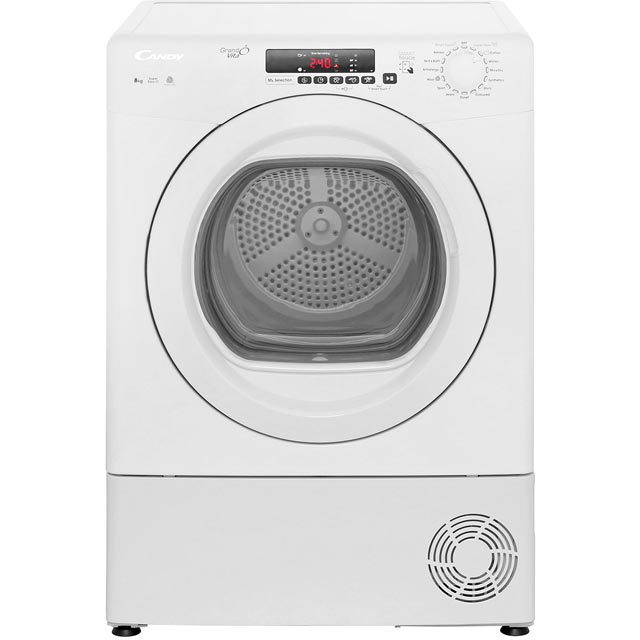 Candy Grand'O Vita GVSC8DG 8Kg Condenser Tumble Dryer - White - B Rated - GVSC8DG_WH - 1