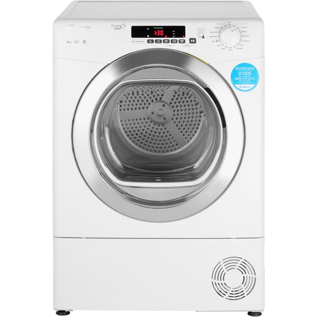 Candy Grand'O Vita GVSC9DCG Condenser Tumble Dryer - White - GVSC9DCG_WH - 1