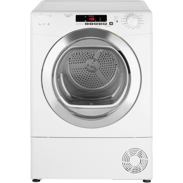 Candy Grand'O Vita GVSC9DCG 9Kg Condenser Tumble Dryer - White - B Rated - GVSC9DCG_WH - 1