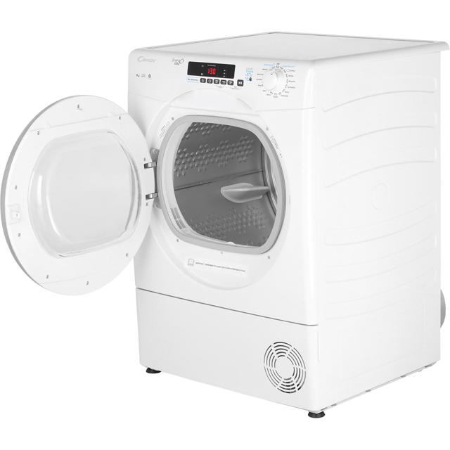 Candy Grand'O Vita GVSC9DCG 9Kg Condenser Tumble Dryer - White - B Rated - GVSC9DCG_WH - 2