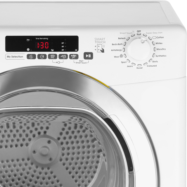 Candy Grand'O Vita GVSC9DCG 9Kg Condenser Tumble Dryer - White - B Rated - GVSC9DCG_WH - 3
