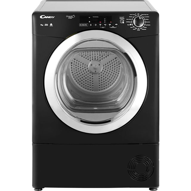 Candy Grand'O Vita GVSC9DCGB Free Standing Condenser Tumble Dryer in Black