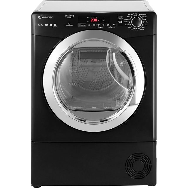 Candy Grand'O Vita GVSH9A2DCEB Free Standing Condenser Tumble Dryer in Black