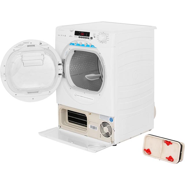 Candy Grand'O Vita GVSH9A2DE 9Kg Heat Pump Tumble Dryer - White - A++ Rated - GVSH9A2DE_WH - 2