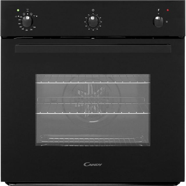 Candy OVG505/3N Built In Gas Single Oven - Black - A+ Rated - OVG505/3N_BK - 1