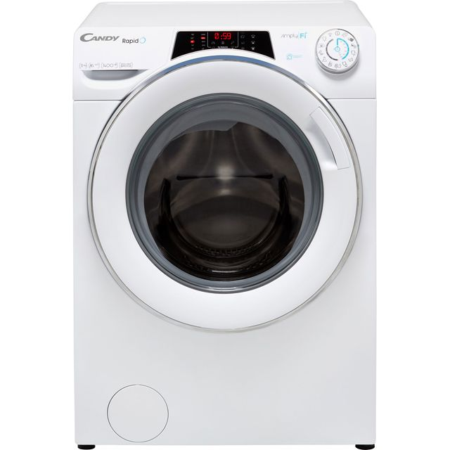 Candy Rapido RO14116DWHC7 Wifi Connected 11Kg Washing Machine with 1400 rpm - White - A+++ Rated - RO14116DWHC7_WH - 1