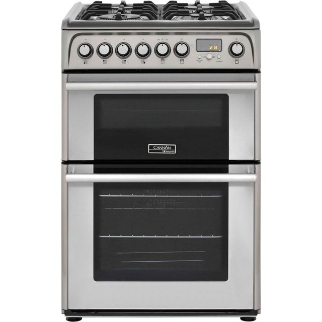 Cannon by Hotpoint 60cm Dual Fuel Cooker - Stainless Steel - B Rated