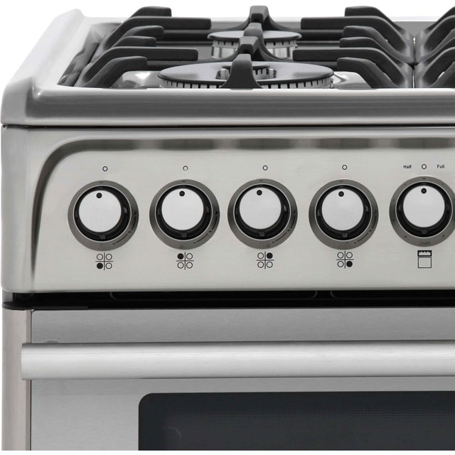 Cannon by Hotpoint CH60DPXFS Dual Fuel Cooker - Stainless Steel - CH60DPXFS_SS - 5