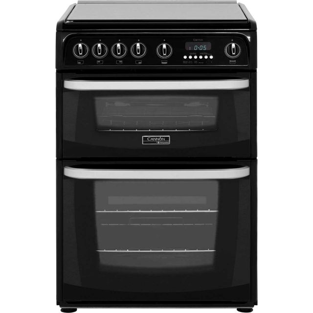 Cannon by Hotpoint CH60GCIK 60cm Gas Cooker with Variable Gas Grill - Black - A+/A Rated - CH60GCIK_BK - 1