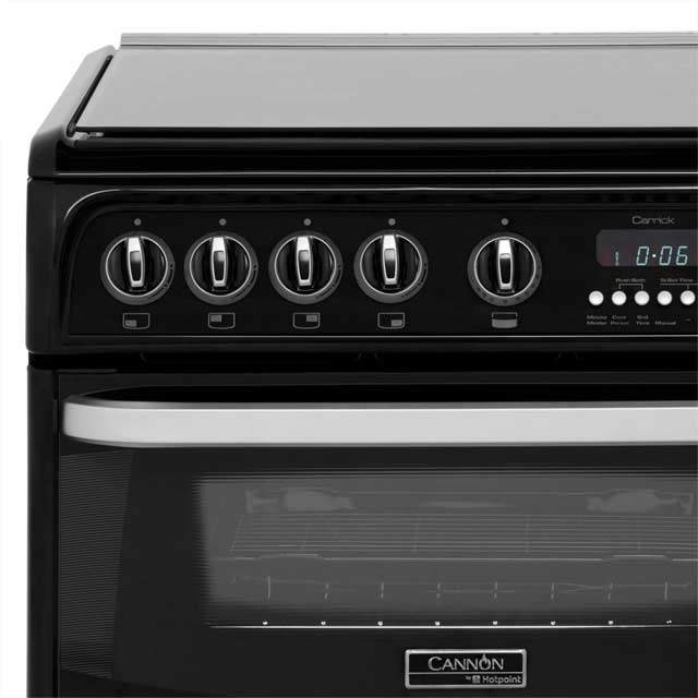 Cannon by Hotpoint CH60GCIK Gas Cooker - Black - CH60GCIK_BK - 5