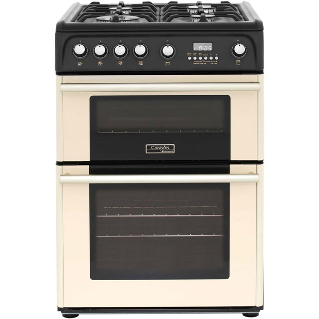 Cannon by Hotpoint CH60GPCF Gas Cooker with Variable Gas Grill - Cream - A+/A Rated