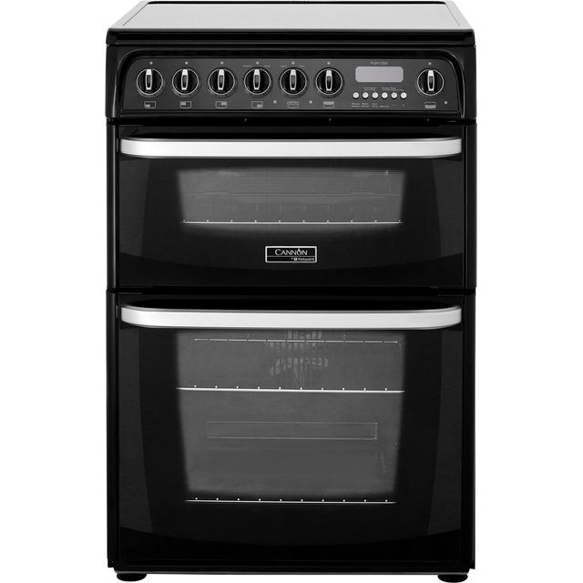 Cannon by Hotpoint Kendal CH60EKKS Electric Cooker with Ceramic Hob - Black - B/B Rated - CH60EKKS_BK - 1