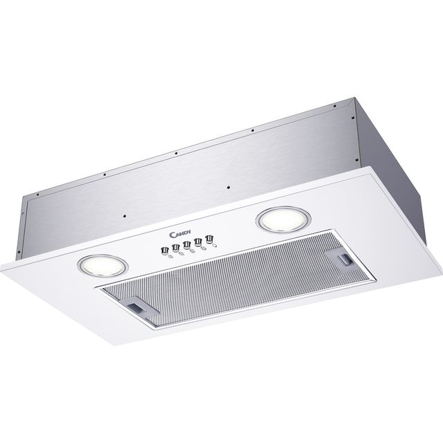 Candy CBG625/1W 52 cm Canopy Cooker Hood - White - C Rated - CBG625/1W_WH - 1
