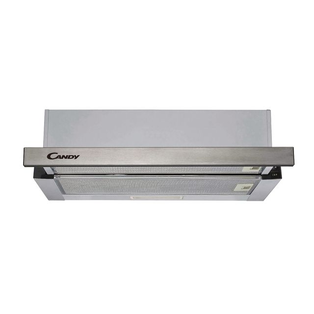 Candy CBT625/2X 60 cm Telescopic Cooker Hood - Stainless Steel - B Rated - CBT625/2X_SS - 1