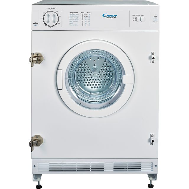 Candy CBTD7VW Built In 7Kg Vented Tumble Dryer - White - C Rated
