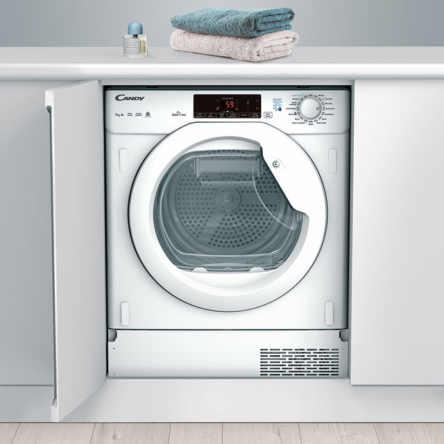 Candy CBTDH7A1TE Integrated 7Kg Heat Pump Tumble Dryer - White - A+ Rated - CBTDH7A1TE_WH - 1