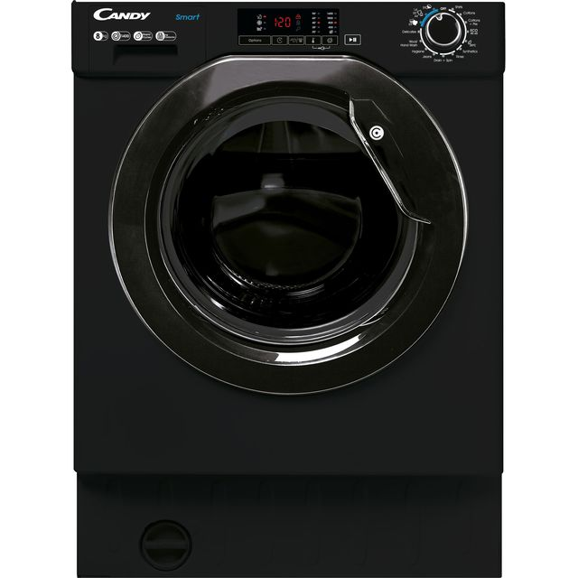 Candy CBW48D1BBE/1 Integrated 8Kg Washing Machine with 1400 rpm - Black - A+++ Rated