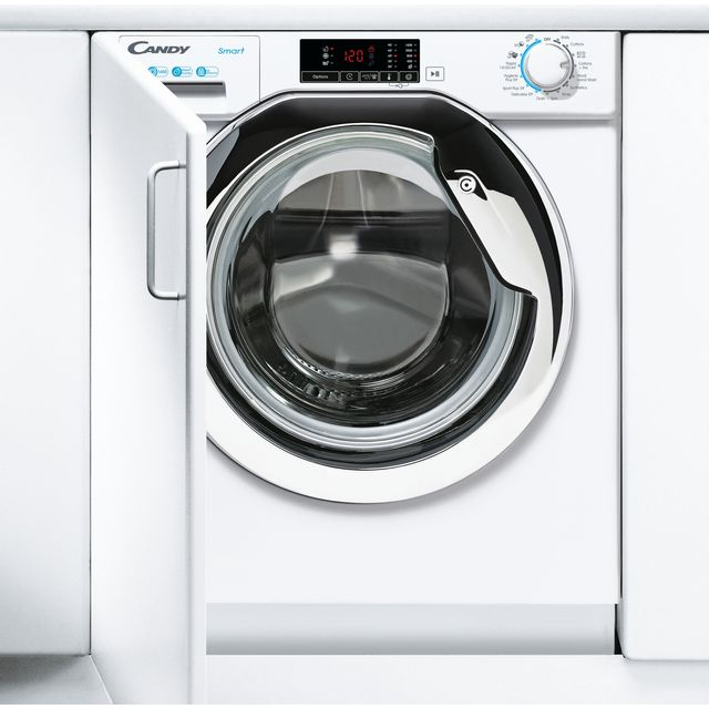 Candy CBW48D1XCE/1 Integrated 8Kg Washing Machine with 1400 rpm - White / Chrome - A+++ Rated