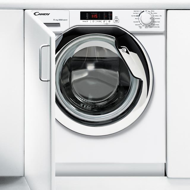 Candy CBWD8514SC Integrated 8Kg / 5Kg Washer Dryer with 1400 rpm - A Rated - CBWD8514SC_WH - 1