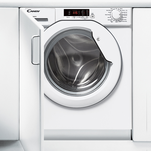 Candy CBWM816S Integrated 8Kg Washing Machine with 1600 rpm - A+++ Rated - CBWM816S_WH - 1