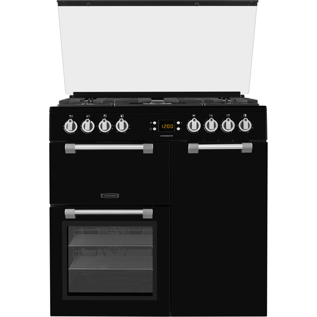 Leisure Chefmaster 90cm Dual Fuel Range Cooker - Black - A/A Rated