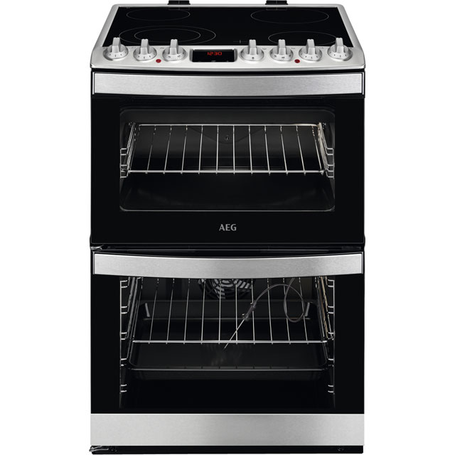 AEG CCB6760ACM 60cm Electric Cooker with Ceramic Hob - Stainless Steel - A/A Rated