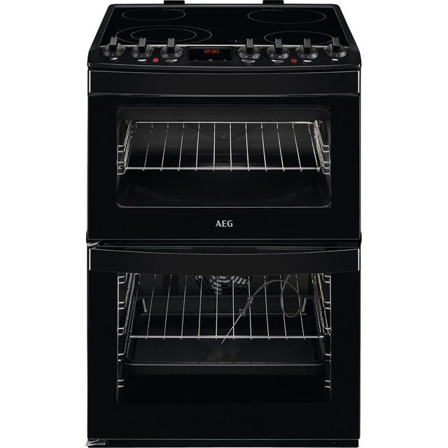 AEG CCB6761ACB 60cm Electric Cooker with Ceramic Hob - Black - A/A Rated