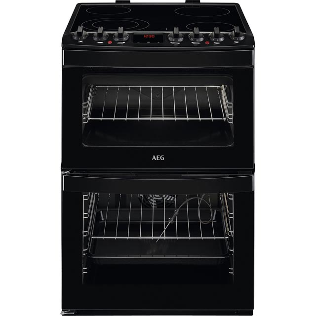 AEG CCB6761ACB 60cm Electric Cooker with Ceramic Hob - Black - A/A Rated - CCB6761ACB_BK - 1