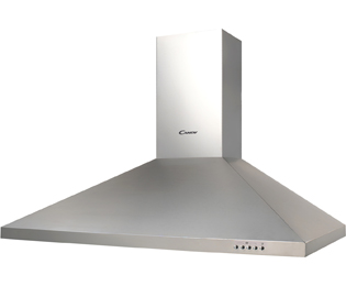 Candy CCE19/2X 90 cm Chimney Cooker Hood - Stainless Steel - D Rated - CCE19/2X_SS - 1