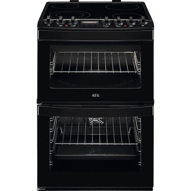 AEG CCS6730ACB 60cm Electric Cooker with Ceramic Hob - Black - A/A Rated - CCS6730ACB_BK - 1
