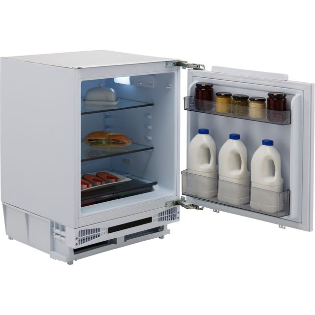 CDA FW224 Integrated Under Counter Fridge - Fixed Door Fixing Kit - White - F Rated