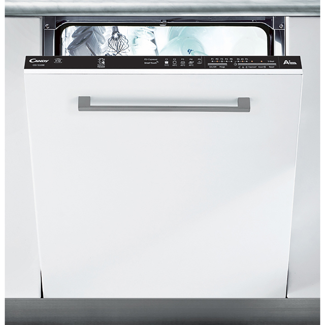 Candy CDI1LS38S Fully Integrated Standard Dishwasher - Black Control Panel