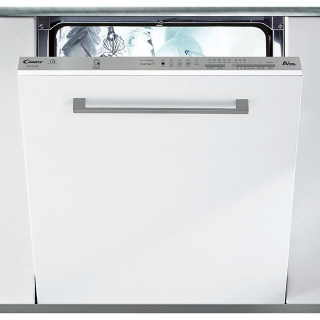 Candy CDI1LS38S Fully Integrated Standard Dishwasher - Silver Control Panel with Fixed Door Fixing Kit - A+ Rated - CDI1LS38S_BK - 1