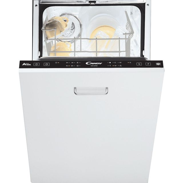 Candy Fully Integrated Slimline Dishwasher - Black Control Panel with Fixed Door Fixing Kit - A++ Rated