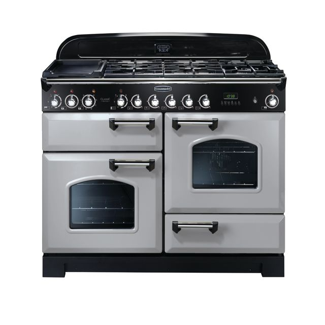 Rangemaster Classic Deluxe CDL110DFFRP/C 110cm Dual Fuel Range Cooker - Royal Pearl - A/A Rated - CDL110DFFRP/C_RP - 1