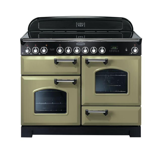 Rangemaster Classic Deluxe CDL110ECOG/C 110cm Electric Range Cooker with Ceramic Hob - Olive Green - A/A Rated - CDL110ECOG/C_OG - 1