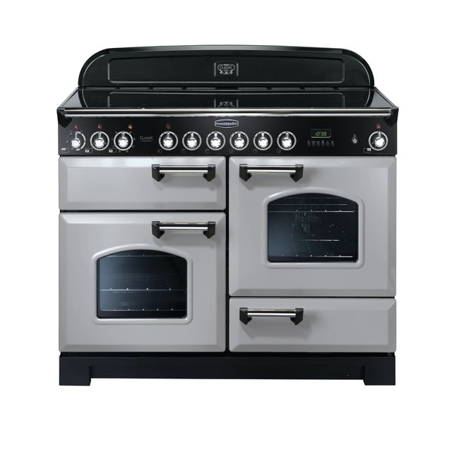Rangemaster Classic Deluxe CDL110ECRP/C 110cm Electric Range Cooker with Ceramic Hob - Royal Pearl - A Rated