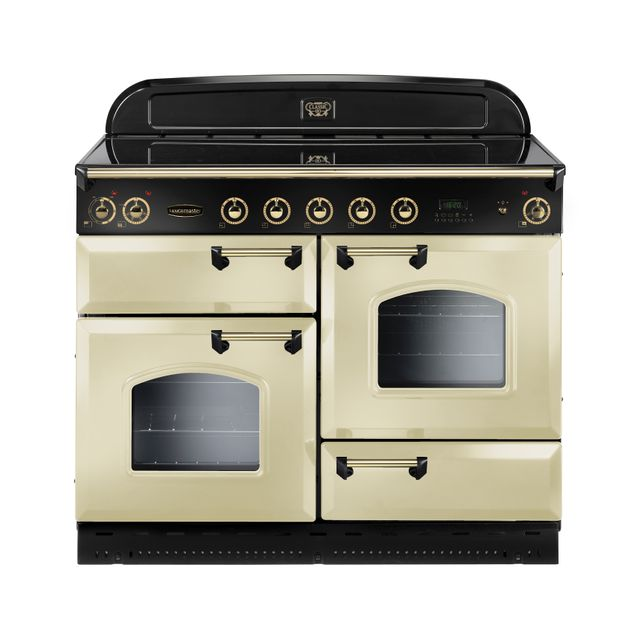 Rangemaster Classic Deluxe CDL110EICR/B 110cm Electric Range Cooker with Induction Hob - Cream / Brass - A Rated - CDL110EICR/B_CR - 1