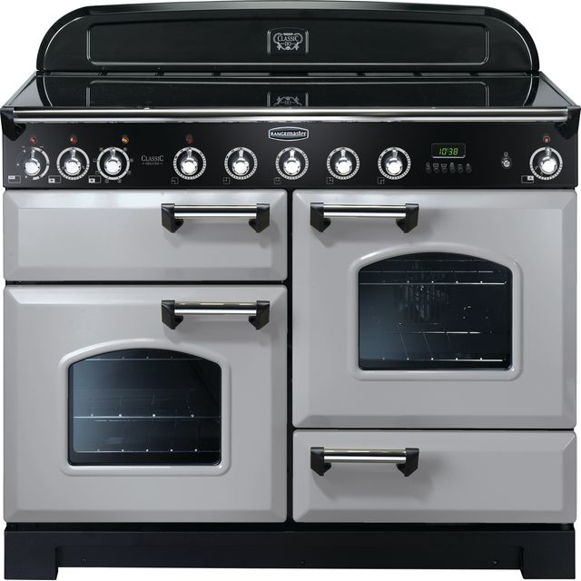 Rangemaster Classic Deluxe CDL110EIRP/C 110cm Electric Range Cooker with Induction Hob - Royal Pearl - A Rated