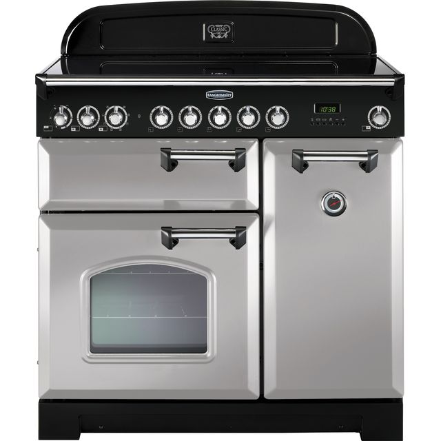 Rangemaster Classic Deluxe CDL90EIRP/C 90cm Electric Range Cooker with Induction Hob - Royal Pearl - A/A Rated