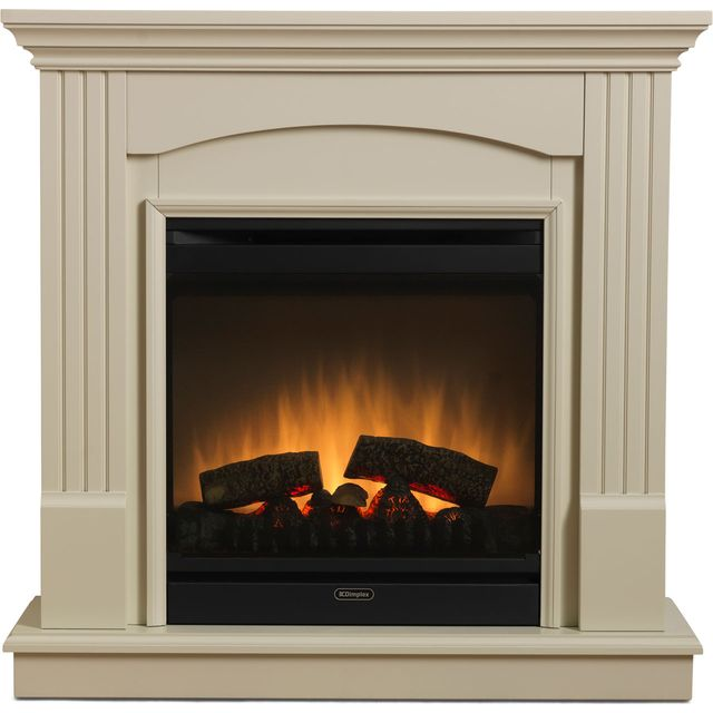 Dimplex Chadwick Optiflame CDW16E Log Effect Suite And Surround - Sandstone